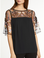 Somerset by Alice Temperley Lily Fireflower Top, Black