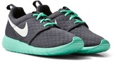 Nike Dark Grey and Green Roshe One Trainers