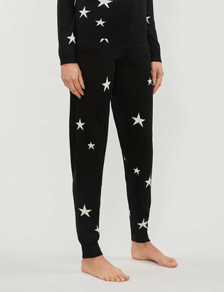 Chinti and Parker Star tapered cashmere jogging bottoms