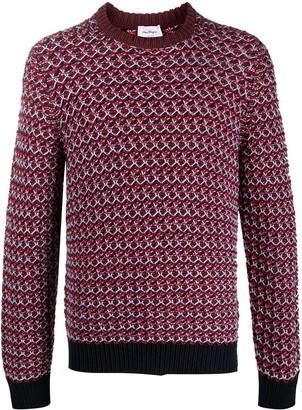 Salvatore Ferragamo Chunky Knit Virgin Wool Jumper