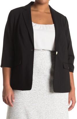 Calvin Klein 3/4 Sleeve Blazer