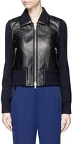 3.1 Phillip Lim Wool knit sleeve lambskin leather jacket
