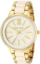 Anne Klein Women's AK/1412IVGB Gold-Tone and Ivory Resin Bracelet Watch