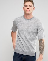 Jack and Jones Originals T-Shirt with Raw Drop Edge Hem and Raglan Sleeve