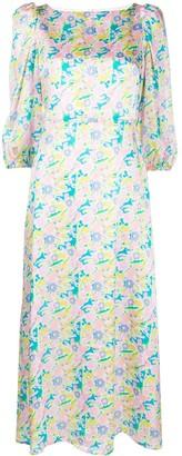 Olivia Rubin Neon Floral Print Dress