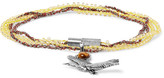 Lanvin Silver-tone, Bead And Stone Wrap Bracelet - Yellow