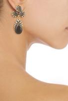 Oscar de la Renta Gold-plated crystal clip earrings