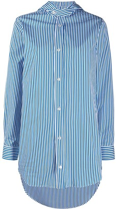 Plan C Striped Hooded Shirt