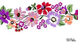 Bob Mackie Green/Purple/Pink Rug