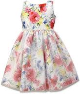 Jayne Copeland Lace Trim Floral-Print Dress, Toddler & Little Girls (2T-6X)