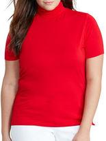 Lauren Ralph Lauren Plus Jersey Short-Sleeve Turtleneck