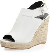 Balenciaga Slingback Glove Wedge Sandal, White