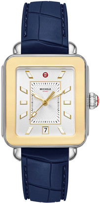 Michele Deco Sport Two-Tone Gold and Silicone Watch