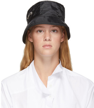 Maison Michel Black Nylon Axel Bomber Hat