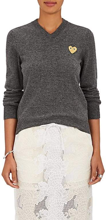 Comme des Garcons Women's Heart Wool Sweater