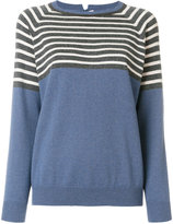 Brunello Cucinelli striped panel knitted top - women - Cashmere - M