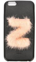 Fendi 'ABCover Z' iPhone 6 hard case - women - Calf Leather/Mink Fur - One Size
