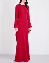 Antonio Berardi Draped-detail crepe gown