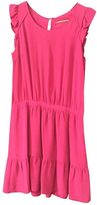 Comptoir des Cotonniers Pink Silk Dress for Women