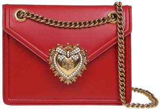 Dolce & Gabbana Medium Devotion Bag In Smooth Calfskin