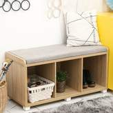 Beata Upholstered Cubby Storage Bench Latitude Run Color: Wood