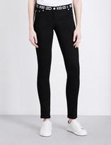 Kenzo Brand-logo mid-rise stretch-denim jeans