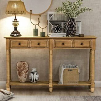 """August Groveâ® Enis 58"""" Solid Wood Console Table August GroveA Color: Old Pine"""