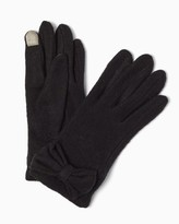 Charming charlie Text Tab Bow Gloves