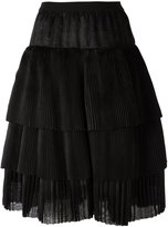 Sara Lanzi A-line tiered skirt - women - Silk - One Size
