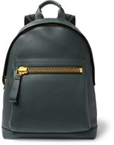 Tom Ford Buckley Pebble-grain Leather Backpack - Forest green