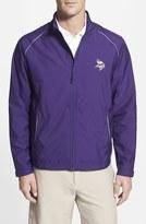 Cutter & Buck Men's Big & Tall 'Minnesota Vikings - Beacon' Weathertec Wind & Water Resistant Jacket