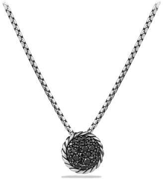 David Yurman Petite Pave Pendant Necklace With Black Diamonds