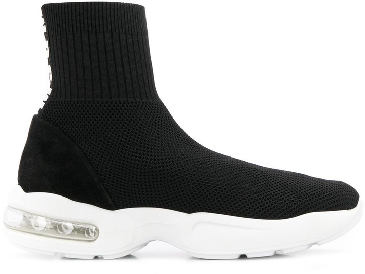 MSGM Bubble-Sole Sock-Knit Trainers