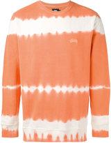 Stussy blurry stripes sweatshirt - men - Cotton - S