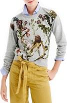 J.Crew Women's Floral Patch Botanical Sweatshirt