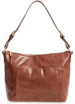 Hobo 'Charlie' Leather Shoulder Bag - Brown