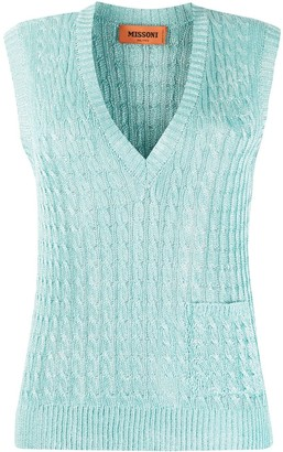 Missoni Sleeveless Crocheted Top