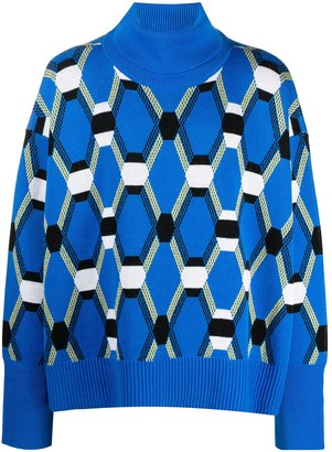 Random Identities Geometric Wool Roll Neck