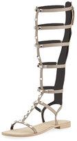 Rebecca Minkoff Giselle Studded Flat Gladiator Sandal, Sand