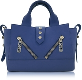 Kenzo Dark Blue Soft Rubberized Gommato Leather Mini Kalifornia Satchel