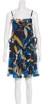 Miu Miu Draped Silk Dress