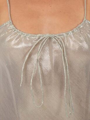 Lisa Marie Fernandez side slit sheer slip dress white