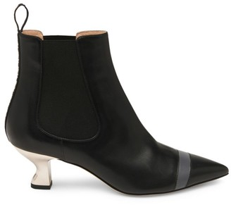Fendi Colibri Leather Ankle Boots