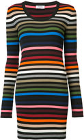 Sonia Rykiel striped fitted dress - women - Cotton/Polypropylene - S