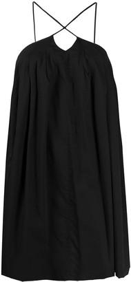 Erika Cavallini Spaghetti-Strap Trapeze Mini-Dress