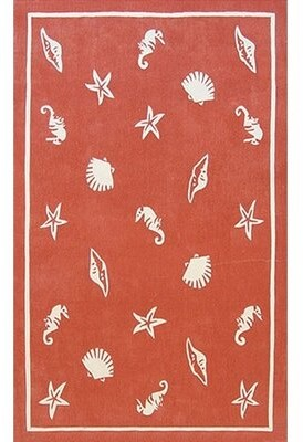 Highland Dunes Howe Hand-Tufted Coral Area Rug Rug Size: Rectangle 8' x 11'