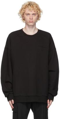 Juun.J Black Back Print Sweatshirt