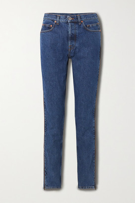 Vetements Zip-embellished Mid-rise Straight-leg Jeans - Blue