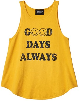 Tiny Whales Good Days Always Tank (Toddler/Little Kids/Big Kids) (Vintage Gold) Girl's Clothing
