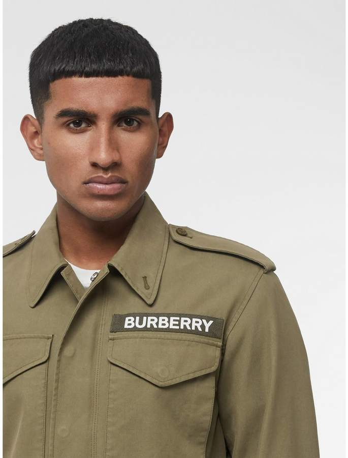 Burberry Logo Detail Cotton Field Jacket